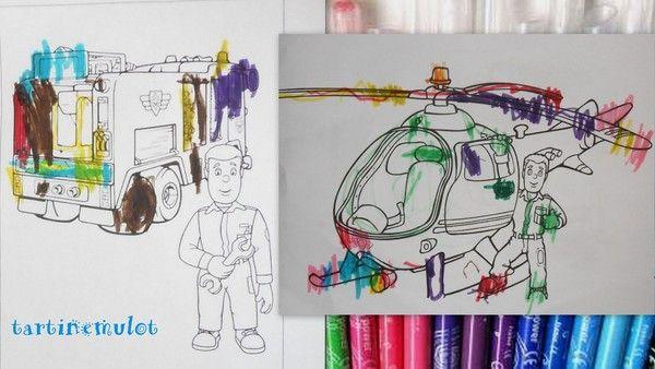 dessins de Sam le pompier fait par Timéo