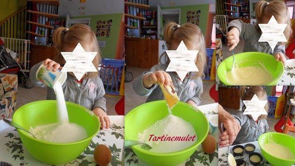 confection de gâteaux avec Lily-Rose