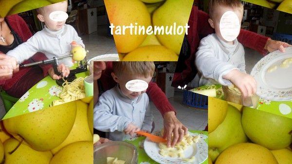 préparation d'une compote de pomme par Tylian
