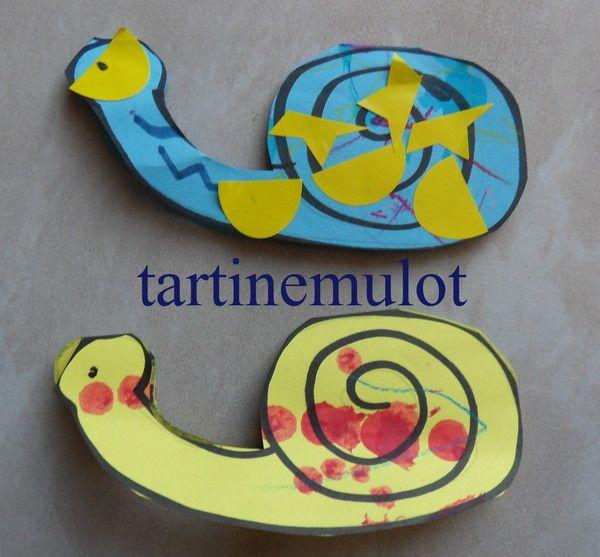 escargots décorés de Lily-Rose et Clémence