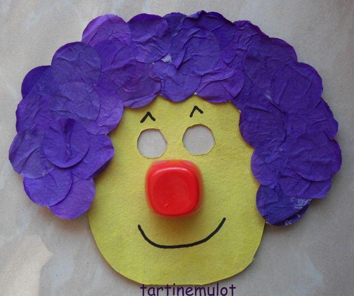 Masque de clown - Comment faire un masque en papier ...