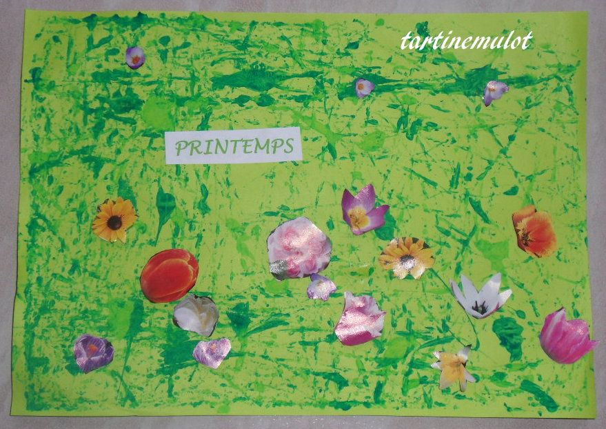Printemps for Decoration fenetre printemps maternelle